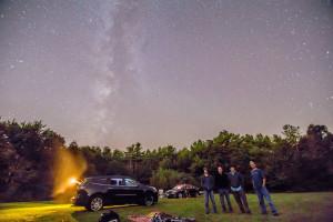 AAS members enjoying the Perseid meteor shower at The Field