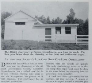 Aldrich Observatory circa 1961