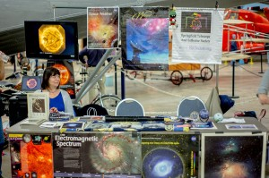 A local astronomy club had astrophotography displays and was happy to answer questions — at New England Air Museum.