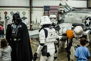 Star Wars characters were available for photo ops — at New England Air Museum.